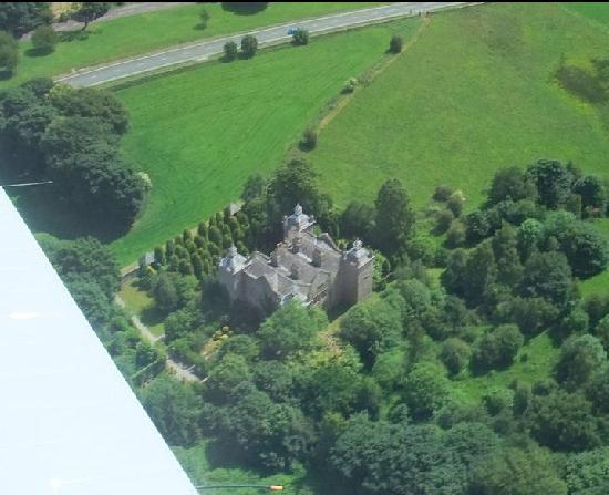 Plas Teg Jacobean Mansion: A birds eye view