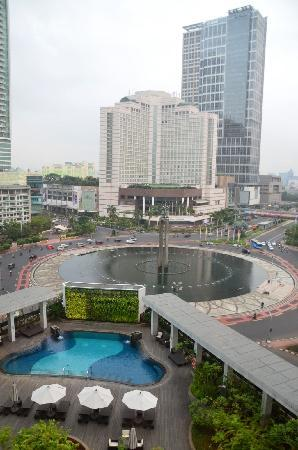 Mandarin Oriental Jakarta: Our view from our room