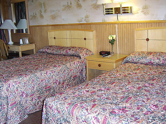 Roscoe Motel: Room with two full size beds
