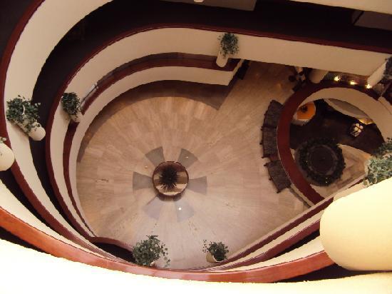 Hotel Imperial Reforma : la recepción desde el 4 piso