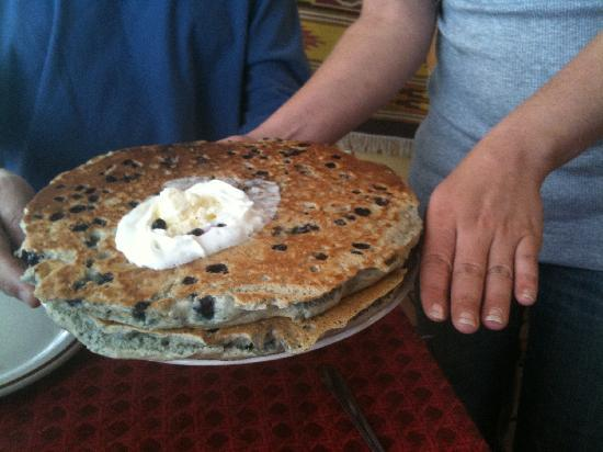 Jemez Stage Stop: Can you believe these pancakes?