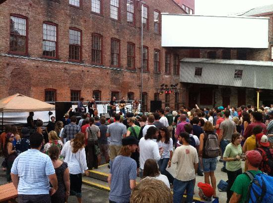 MASS MoCA: concert space in the courtyard