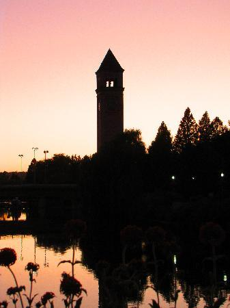 Courtyard Spokane Downtown at the Convention Center: The tower at sunset.