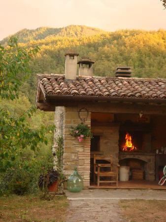 La Tavola Marche Agriturismo & Cooking School: Outdoor kitchen/Pizza oven