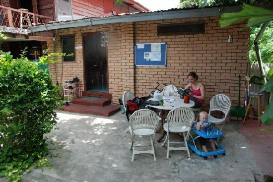 Zackry Guest House: Recreation area with chair for my son and wife.