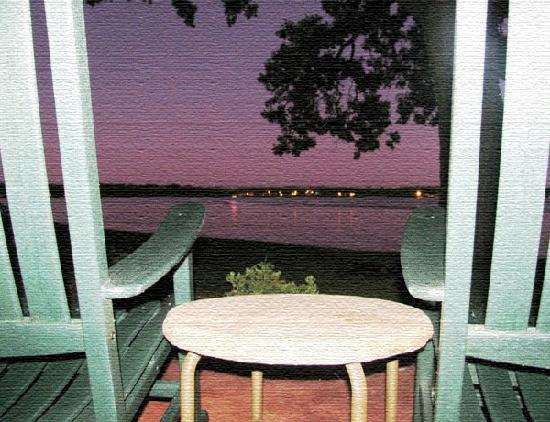 Lake Lawn Resort: Evening view from the sliding glass doors of our room