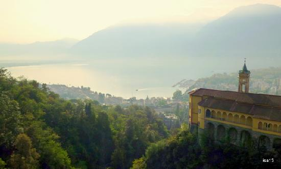 Villa sempreverde: View over the Sanctuary of the Madonna del Sasso