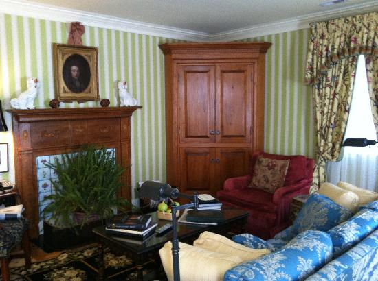 The Inn at Little Washington: sitting room in our suite