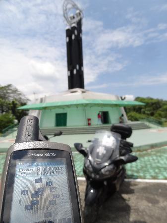 Equator Monument: GPS confirms the equatorial coordinates