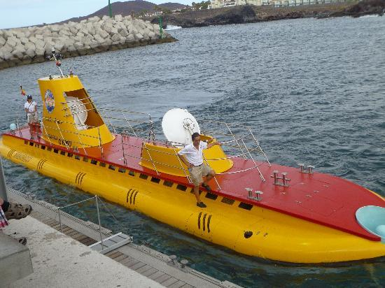 San Miguel de Abona, Spain: yellow submarine