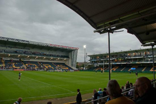 Sixways Stadium: View of the pitch from the stands