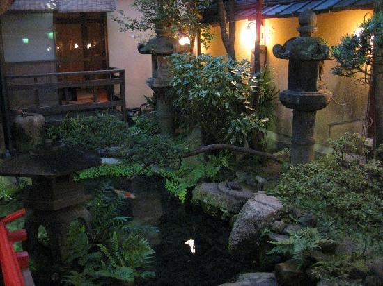 Kikokuso: Indoor Japanese garden and fishpond.