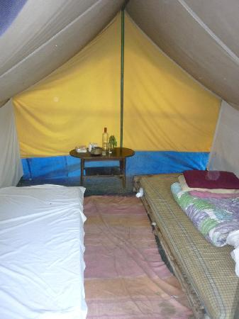The Borderlands Resort: tent w bamboo mattress
