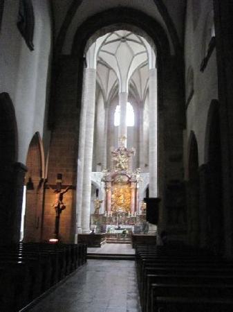 Franziskanerkirche: dark interior