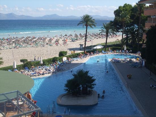 Paraiso de Alcudia: View from balcony 3rd floor room.