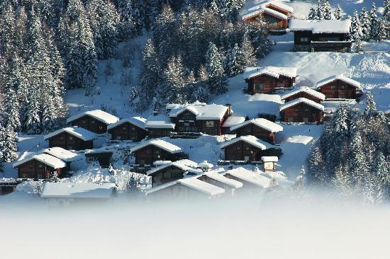 Panoramica invernale del Park Chalet Village