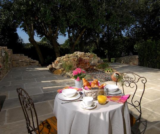 Mas d'Augustine: Breakfast in the Garden Courtyard