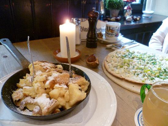 Jagdschloss Wirtshaus+Biergarten: Guter Kaiserschmarrn und Flamkuchen