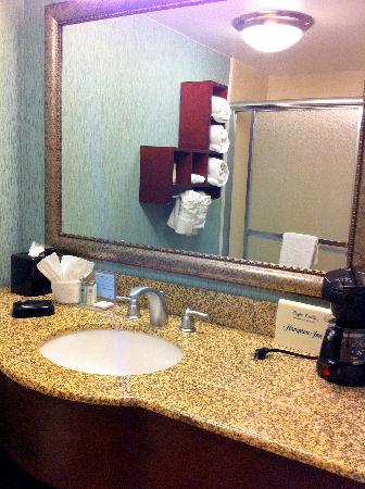 Hampton by Hilton Boca Raton: Nice bathroom at the Boca Hampton Inn -- 6/18/11