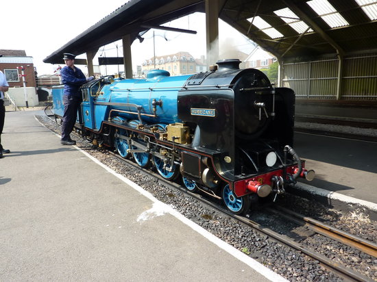 New Romney, UK: The engines are miniature marvels