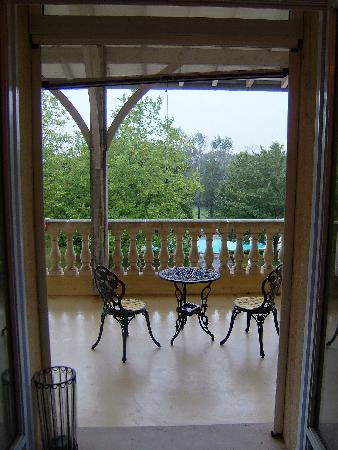 Manoir La Betoulle : The balcony from the bedroom