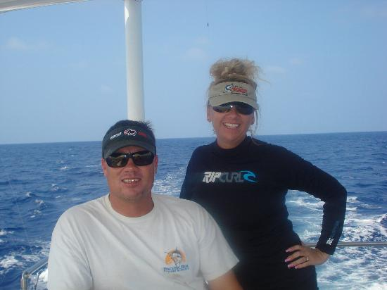 Hooked Up Sportfishing: Captian Chuck and Beverley Wigzell - Owners