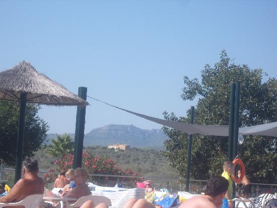 Club Cala Romani: view from pool side