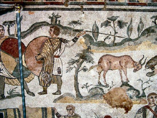 Villa Romana del Casale: Villa del Casale -mosaico pavimento