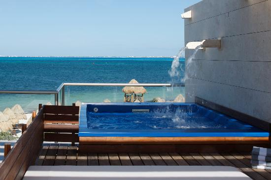 Beloved Playa Mujeres: Two Story Beach Front Casita Suite w/Plunge Pool