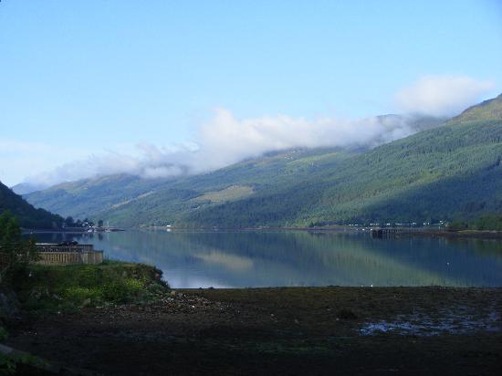 Loch Long Hotel: loch long - look at the symmetry of the shadows