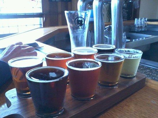 Holgate Brewhouse at Keatings Hotel: Tasting paddle
