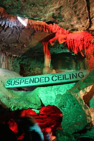 "Secret Caverns: ""Suspended Ceiling"" - watch your head"