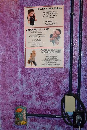 USA Hostels San Diego: Les règles à suivre (rules)