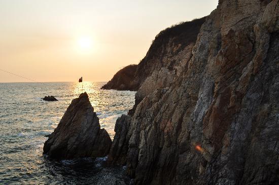 Sunset at La Quebrada
