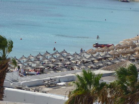 Deliades Hotel: Beach view from room balcony