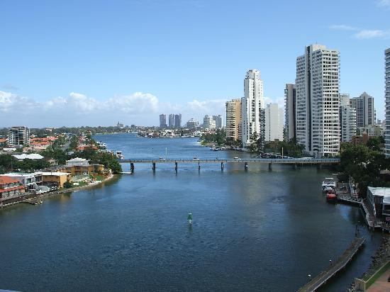 Moorings on Cavill Avenue: View from the balcony