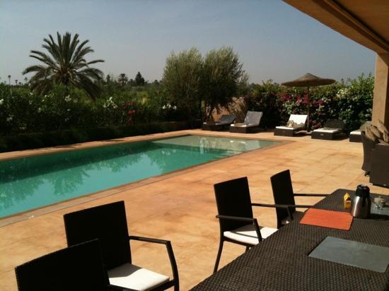 Villa Malekis: la piscine