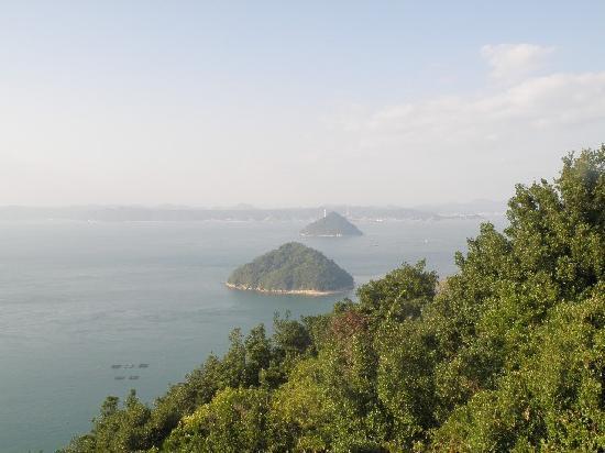 Goshikidai: 大崎山園地からの眺め(大槌島、小槌島)