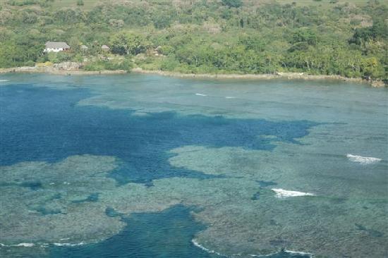 Mount Yasur: Landeanflug auf Tanna/Vanuatu