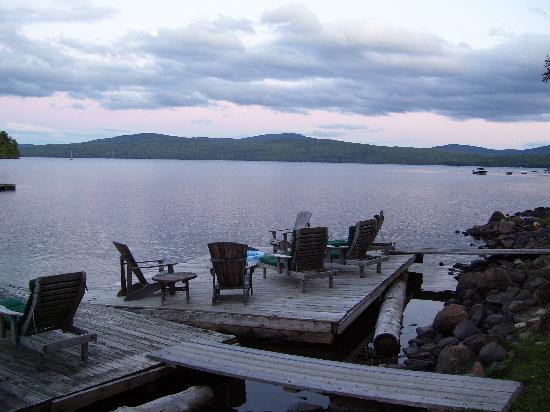 Hunter Cove Cabins on Rangeley Lake: Such a beautiful, relaxing dock