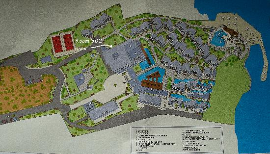 Tui Sensimar Elounda Village Resort & Spa by Aquila: Hotel Map