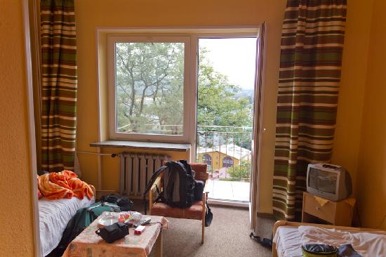 Sanok, Poland: Blick zum Balkon