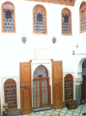 Riad Boustan: part of the patio