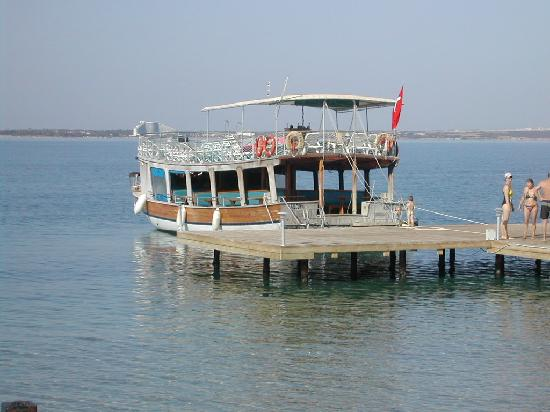 Milas, Türkiye: the boat at the jetty