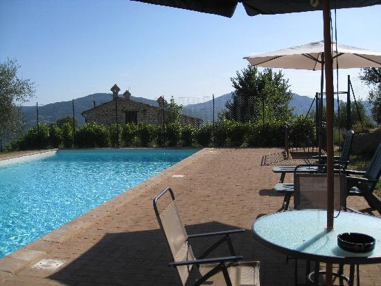 Agriturismo Ampugnano: La bella e grande piscina con vista!