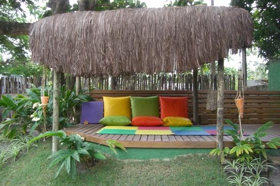 Pousada dos Artistas: area to relax in the garden
