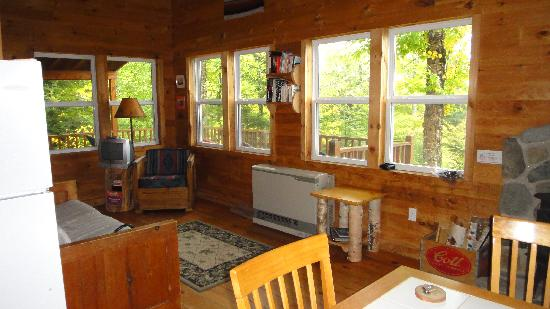 Moosehead Hills Cabins: Kitchen/Dining.Living