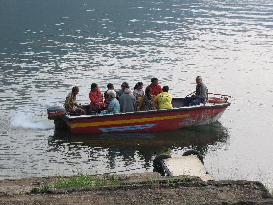 Shillong, India: motorboat