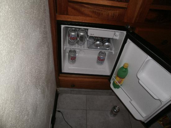 Anton Valley Hotel: Mi nevera (las cervezas se compran en un kiosco que hay a menos 50 metros del hotel