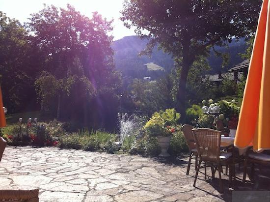 Thermenwelt Hotel Pulverer: Auf der Terrasse vor dem Speisesaal